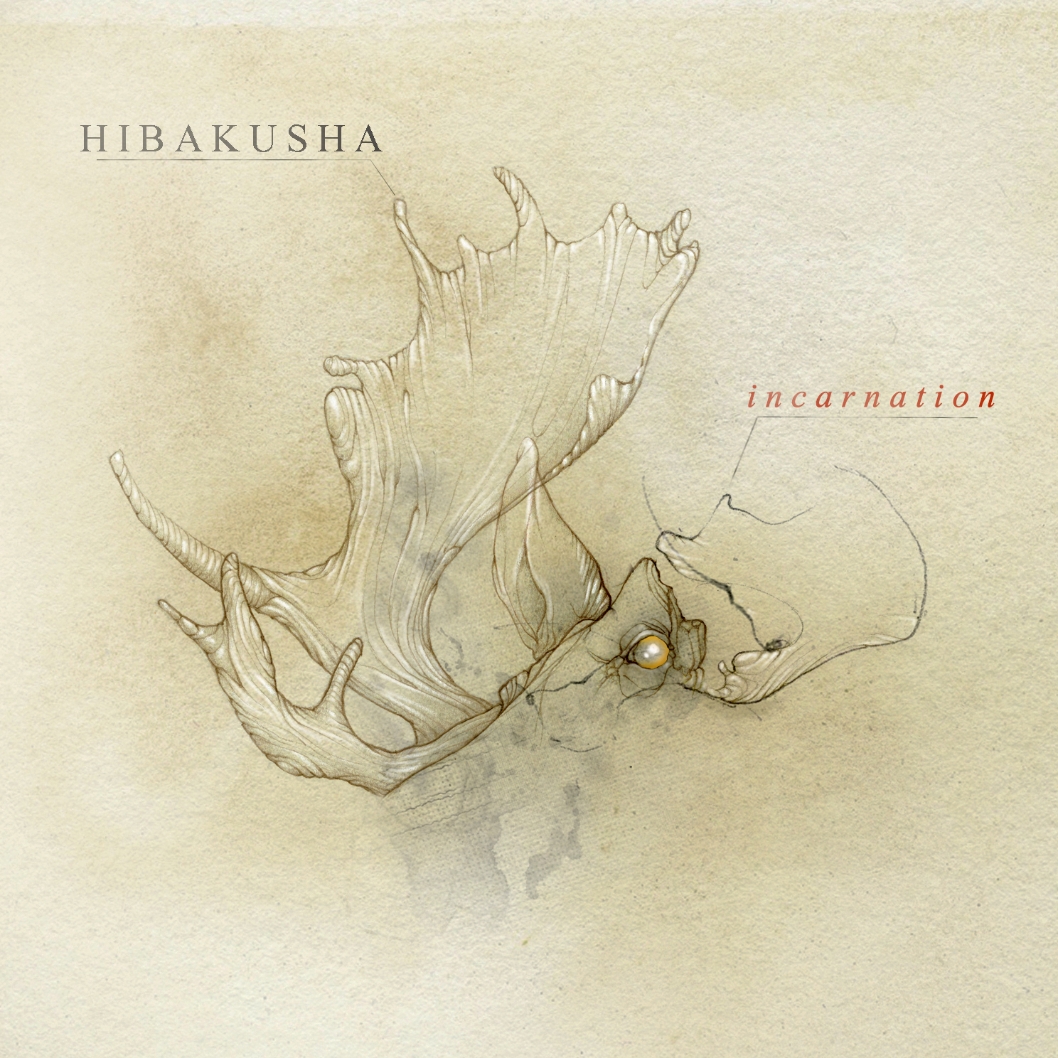 Hibakusha Incarnation EP Cover Hibakusha.nl - heavy music from Haarlem Netherlands